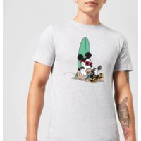 Disney Mickey Mouse Surf And Chill Men's T-Shirt - Grey - M - Grey
