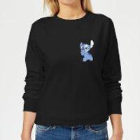 Disney Stitch Backside Women's Sweatshirt - Black - XXL - Black