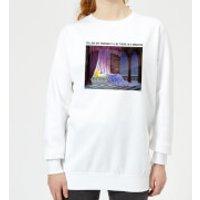 Disney Sleeping Beauty I'll Be There In Five Women's Sweatshirt - White - 5XL - White - Sleeping Beauty Gifts
