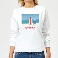 Disney Lilo And Stitch Surf Beach Women's Sweatshirt - White - M - White