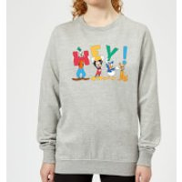 Disney Mickey Mouse Hey! Women's Sweatshirt - Grey - S - Grey