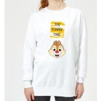 Disney Chip 'N' Dale The Funny One Women's Sweatshirt - White - XXL - White