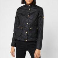 Barbour International Womens Livingo Wax Jacket - Black - UK 10 - Black