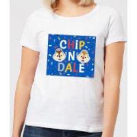 Disney Chip N' Dale Women's T-Shirt - White - 3XL - White