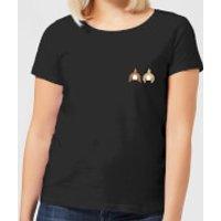 Disney Chip And Dale Backside Women's T-Shirt - Black - 3XL - Black