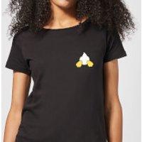 Disney Donald Duck Backside Women's T-Shirt - Black - L - Black