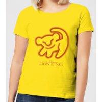 Disney Lion King Cave Drawing Women's T-Shirt - Yellow - M - Yellow - Drawing Gifts