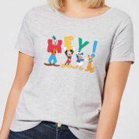 Disney Mickey Mouse Hey! Women's T-Shirt - Grey - XXL - Grey