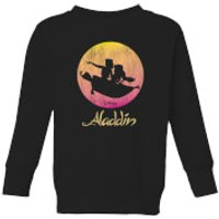 Disney Aladdin Flying Sunset Kids' Sweatshirt - Black - 5-6 Years - Black