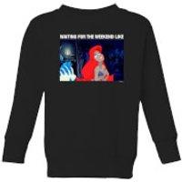 Disney The Little Mermaid Weekend Wait Kids' Sweatshirt - Black - 3-4 Years - Black