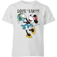 Disney Minnie Mouse Love The Earth Kids' T-Shirt - Grey - 3-4 Years - Grey