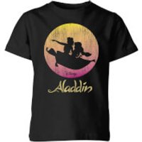 Disney Aladdin Flying Sunset Kids' T-Shirt - Black - 7-8 Years - Black