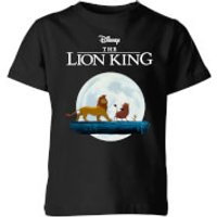Disney Lion King Hakuna Matata Walk Kids' T-Shirt - Black - 11-12 Years - Black - Lion King Gifts