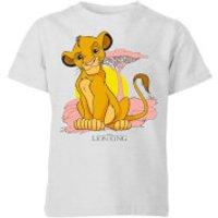 Disney Lion King Simba Pastel Kids' T-Shirt - Grey - 11-12 Years - Grey - Lion King Gifts