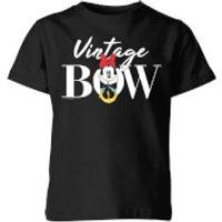 Disney Minnie Mouse Vintage Bow Kids' T-Shirt - Black - 11-12 Years - Black - Vintage Gifts