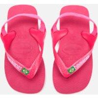 Havaianas Toddler's Brasil Logo Sandals - Tulip - EU 25-26/UK 8-9 Toddler - Pink
