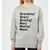 Gran's And Nan's Women's Sweatshirt - Grey - XL - Grey