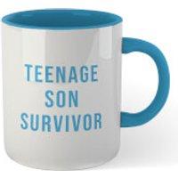 Teenage Son Survivor Mug - White/Blue - Son Gifts