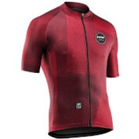 Northwave Abstract Short Sleeve Jersey - Rust Red - XL - Rust Red