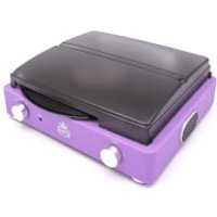 GPO Stylo II Turntable with AUX in for MP3 Connection - Lilac - Lilac Gifts