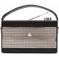 GPO Darcy AM/FM Radio - Black/Silver