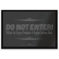 Harry Potter Regulus Black Do Not Enter Entrance Mat