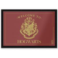 Harry Potter Welcome To Hogwarts Entrance Mat