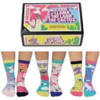 United Oddsocks Women's Unicorn vs Llama Socks Gift Set (UK 4-8) - Socks Gifts