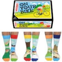 United Oddsocks Men's On Your Bike Socks Gift Set (UK 6-11) - Bike Gifts