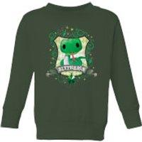 Harry Potter Kids Slytherin Crest Kids' Sweatshirt - Forest Green - 5-6 Years - Forest Green