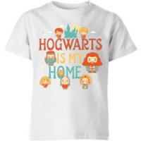 Image of Harry Potter Kids Hogwarts Is My Home Kids' T-Shirt - White - 5-6 Years - White