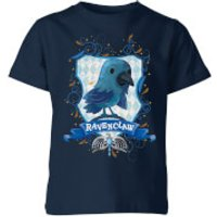 Image of Harry Potter Kids Ravenclaw Crest Kids' T-Shirt - Navy - 7-8 Years - Navy