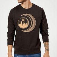 Harry Potter Globe Moon Sweatshirt - Black - M - Black