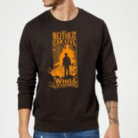 Harry Potter Neither Can Live Sweatshirt - Black - M - Black