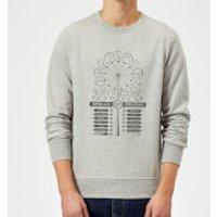 Harry Potter Spells Charms Sweatshirt - Grey - XL - Grey