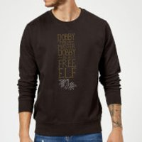 Harry Potter Dobby Is A Free Elf Sweatshirt - Black - S - Black - Elf Gifts
