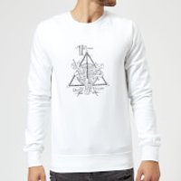 Harry Potter Three Dragons White Sweatshirt - White - M - White