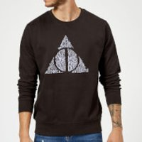Harry Potter Deathly Hallows Text Sweatshirt - Black - L - Black