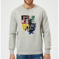 Harry Potter Varsity House Logo Sweatshirt - Grey - XXL - Grey
