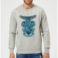 Harry Potter Ravenclaw Drawn Crest Sweatshirt - Grey - XL - Grey