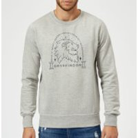Harry Potter Gryffindor Linework Sweatshirt - Grey - XL - Grey