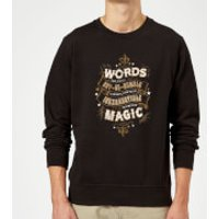 Harry Potter Words Are, In My Not So Humble Opinion Sweatshirt - Black - XL - Black