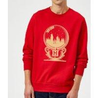 Harry Potter Hogwarts Snowglobe Sweatshirt - Red - XL - Red
