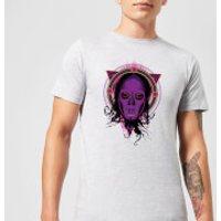 Harry Potter Death Mask 2 Neon Men's T-Shirt - Grey - L - Grey