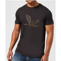 Harry Potter Hedwig Broom Gold Men's T-Shirt - Black - XXL - Black