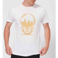 Harry Potter Hogwarts Snowglobe Mens T-Shirt - White - XL - White