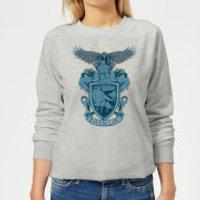 Harry Potter Ravenclaw Drawn Crest Women's Sweatshirt - Grey - XS - Grey