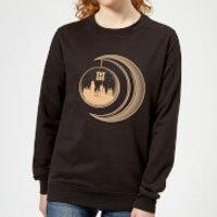 Harry Potter Globe Moon Women's Sweatshirt - Black - XL - Black