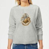 Harry Potter Star Hogwarts Gold Crest Women's Sweatshirt - Grey - XL - Grey