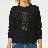 Harry Potter Dobby Is A Free Elf Women's Sweatshirt - Black - 5XL - Black - Elf Gifts